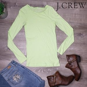 J Crew green long sleeve size small sweater
